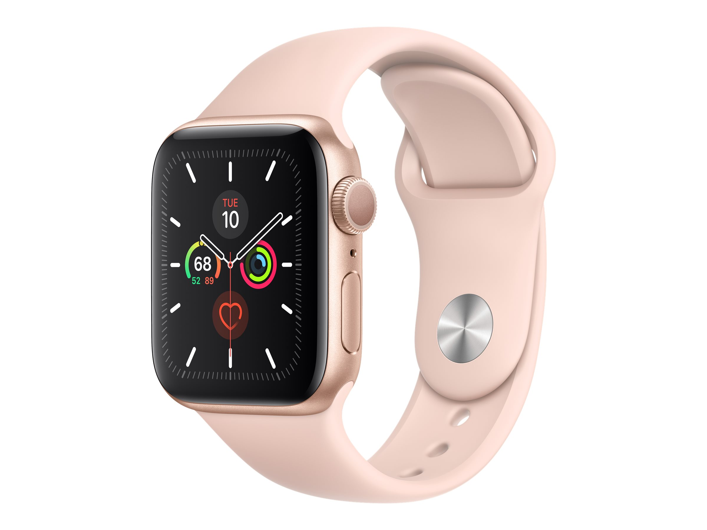 Apple Watch Series 5 (GPS) - gold aluminum - smart watch with sport band - pink sand - 32 GB