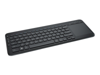 Microsoft All-in-One Media Keyboard with Integrated Multi-Touch Trackpad - Keyboard - wireless - 2.4 GHz - UK layout