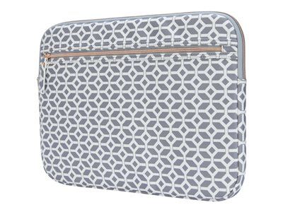 Targus Arts Edition notebook sleeve 15.6INCH gray, white, geometric image