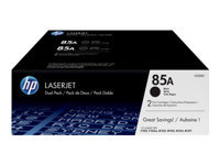 HP 85A - 2-pack - black - original - LaserJet - toner cartridge (CE285AD) - for LaserJet Pro M1132, M1136, M1212, M1217, P1102, P1104, P1106, P1107, P1108, P1109