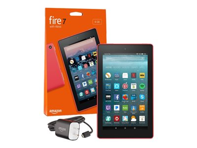 Amazon Kindle Fire 7 Tablet 8 GB 7INCH IPS (1024 x 600) microSD slot punch red
