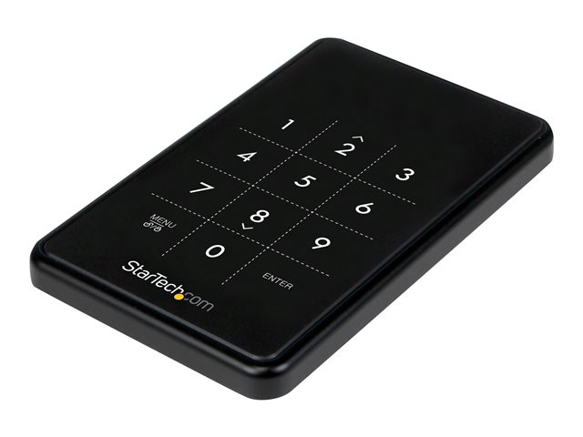 Image of StarTech.com USB 3.0 Hard Drive Enclosure - Encrypted SATA Hard Drive to USB - HDD/SSD Enclosure with Password Protection (S2510BU33PW) - storage enclosure - SATA 6Gb/s - USB 3.0