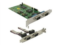 DeLock PCI Card 4x Serial - Serieller Adapter