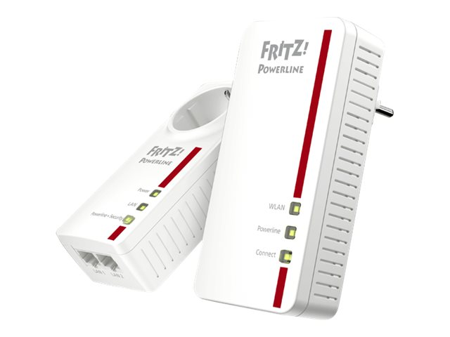 AVM FRITZ!Powerline 1260E - WLAN Set - Bridge - GigE, HomePlug AV (HPAV) 2.0, IEEE 1901 - 802.11a/b/g/n/ac - Dual-Band