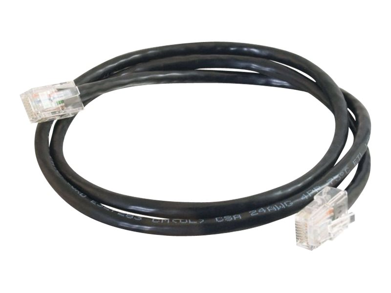 C2G Cat5e Non-Booted Unshielded (UTP) Network Crossover Patch Cable - crossover cable - 7.6 m - black