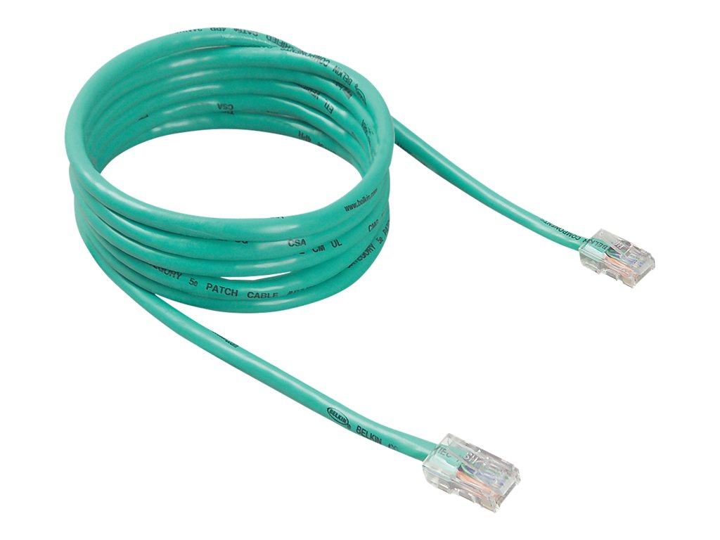 Malawicomputronestore Cables Cat5e Gray Ethernet Patch Cable Snagless Molded Boot 75 Foot Belkin 7 Ft Green