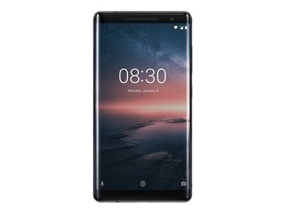 Nokia 8 Sirocco - Android One - sort - 4G - 128 GB - GSM - smartphone