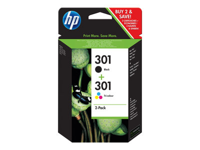 HP 301 Sort  tricolor