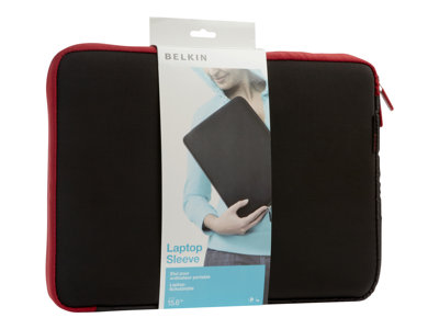 "Belkin Neoprene Sleeve for Notebooks up to 15.6"" - Notebook sleeve - 15.6"" - jet, cabernet"