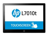 "HP L7010t Retail Touch Monitor - LED monitor - 10.1"" - touchscreen - 1280 x 800 - ADS-IPS - 220 cd/m² - 800:1 - 30 ms - DisplayPort - HP black, asteroid"