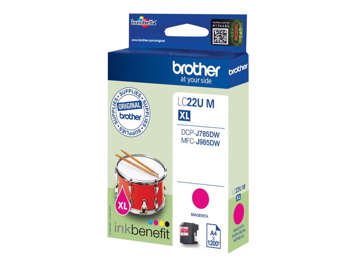 Brother LCLC22UM - XL - Magenta - Original - Tintenpatrone - für Brother DCP-J785DW, MFC-J985DW; INKvestment Work Smart MFC-J985DW, MFC-J985DW XL