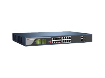 Hikvision DS-3E0318P-E Switch unmanaged 16 x 10/100 (PoE+) + 2 x Gigabit SFP (uplink)