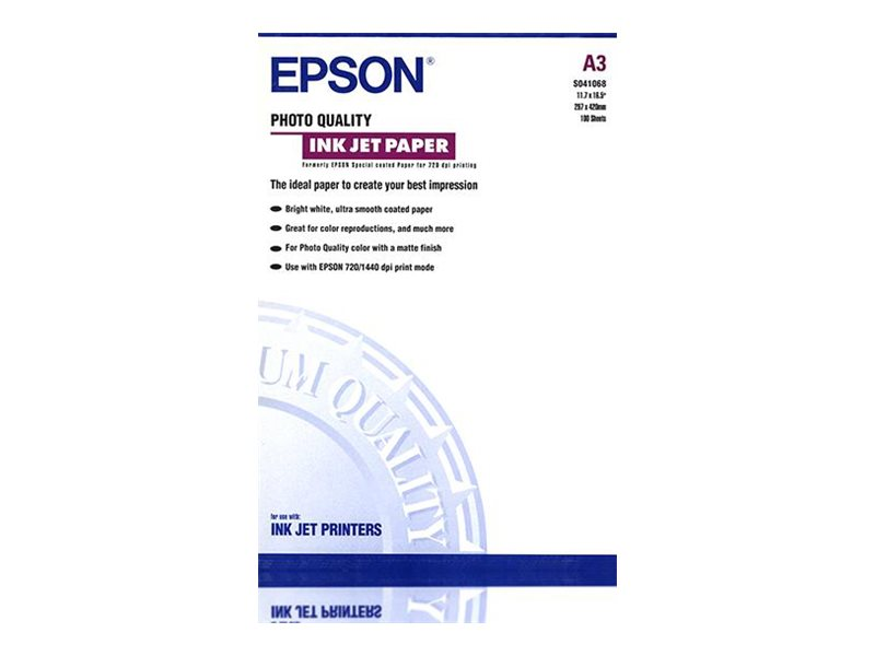 Epson Photo Quality Ink Jet Paper - Matt - beschichtet - A3 (297 x 420 mm) - 102 g/m² - 100 Blatt Papier