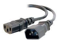 C2G 6ft 16AWG 250 Volt Computer Power Extension Cord IEC320C14 to IEC320C13 - power extension cable - 1.8 m