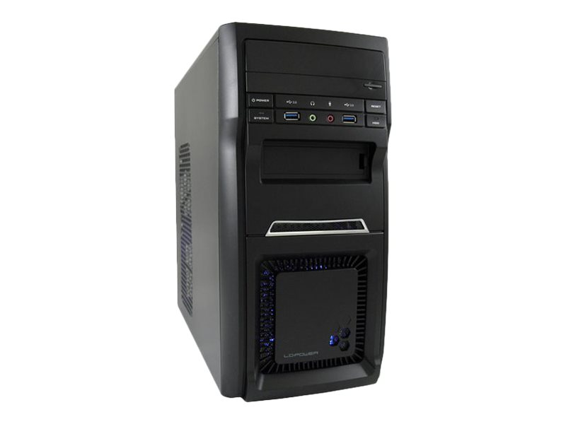LC Power 2000MB - Micro Tower - micro ATX 350 Watt (ATX12V 2.31) - Schwarz - USB/Audio