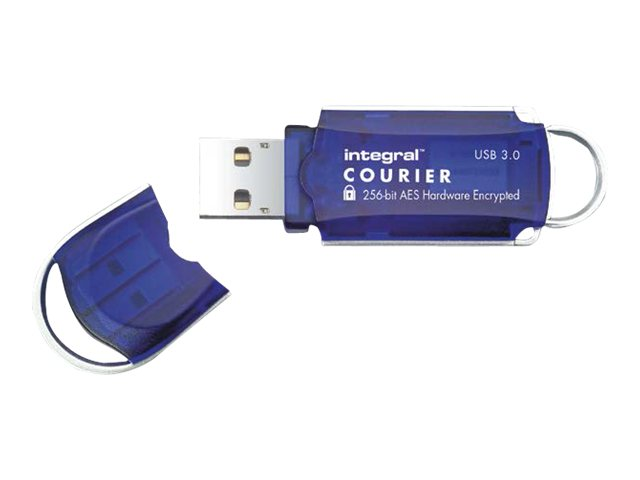 Integral Memory Integral Courier FIPS 197 Encrypted USB 3.0 - USB-Flash-Laufwerk - verschlüsselt - 8 GB - USB 3.0