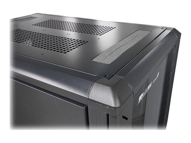 StarTech.com 25U Network Rack Cabinet on Wheels - 36in Deep - Portable 19in 4 Post Network Rack Enclosure for Data & IT Computer Equipment w/ Casters (RK2536BKF)