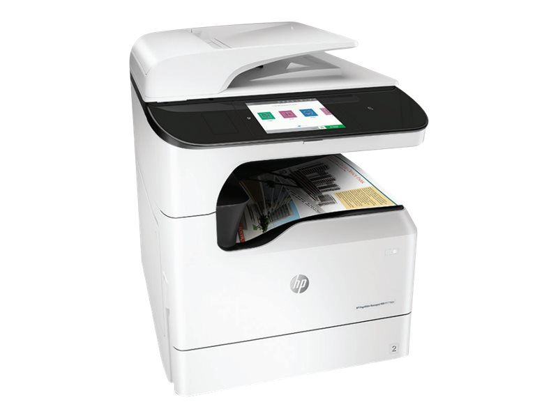 Copieur PageWide Managed Color MFP HP P77760z vue 3/4 gauche