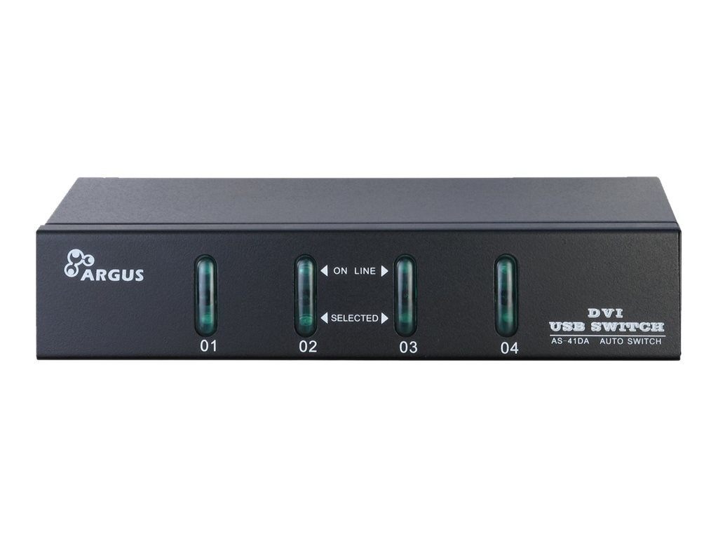 Argus KVM-AS-41DA - KVM-/Audio-Switch - 4 x KVM/Audio - Desktop