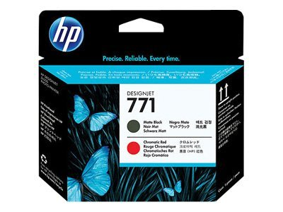 HP 771 - Noir mat, rouge chromatique - tête d'impression - pour DesignJet Z6200, Z6600 Production Printer, Z6800 Photo Production