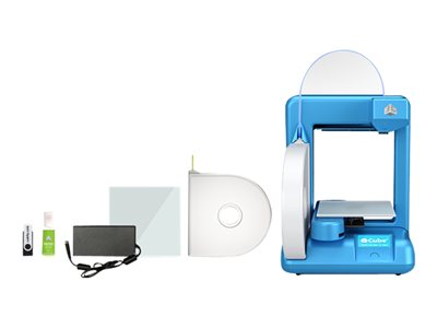 3D Systems Cube 2 - 3D printer - FDM - build size up to 140 x 140 x 140 mm - layer: 0.2 mm - Wi-Fi(n) - blue