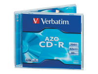 Verbatim AZO Crystal - 10 x CD-R - 700 MB 52x - jewel case