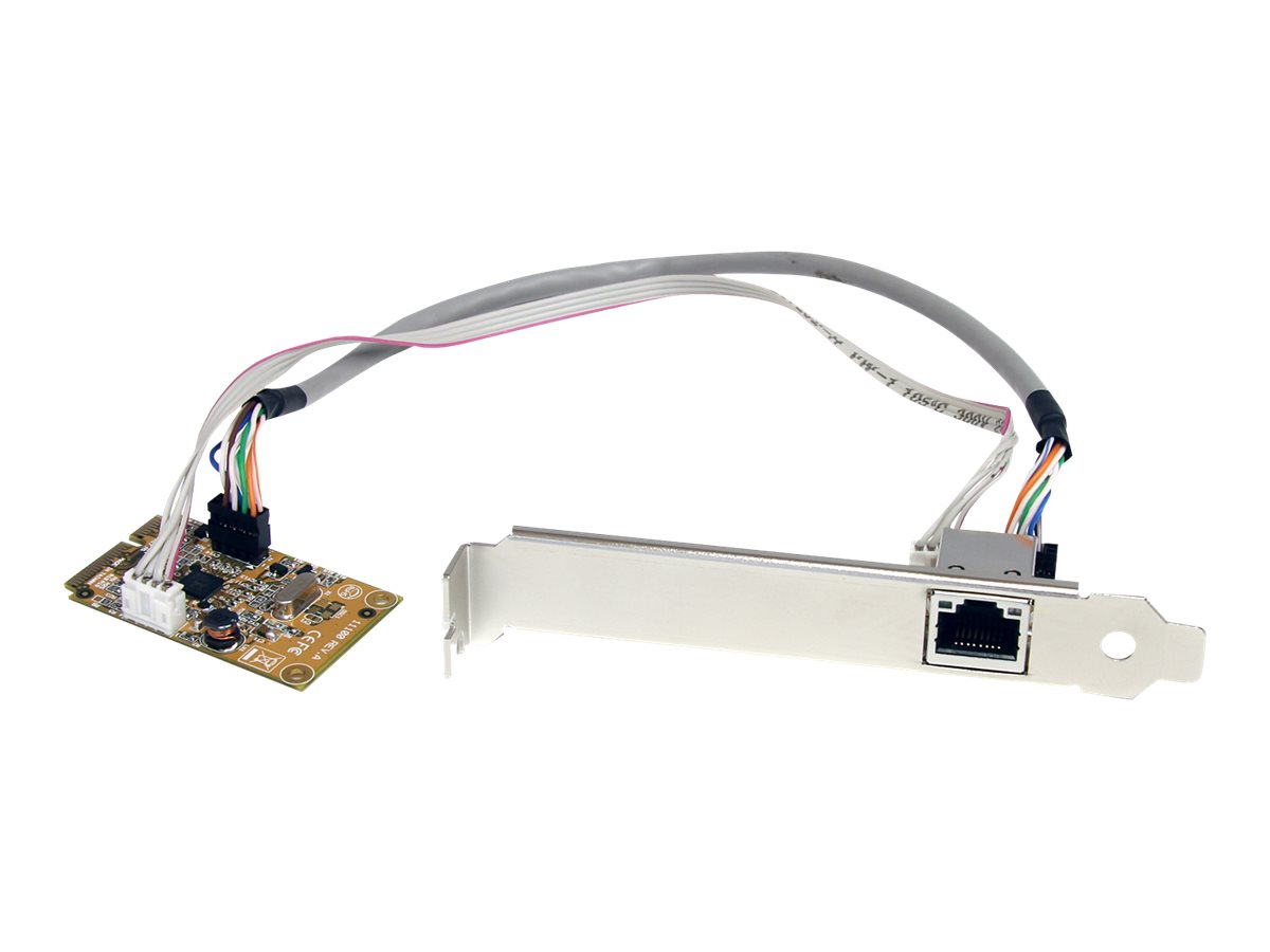 StarTech.com Mini PCIe Card - 10/100/1000Mbps RJ45 Port - IEEE 802.3 - Jumbo Frame - Network Card (ST1000SMPEX) - netwo…