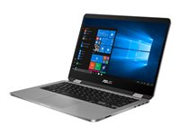 "ASUS VivoBook Flip 14 TP401MA BZ080R - Conception inclinable - Pentium Silver N5000 / 1.1 GHz - Win 10 Pro - 4 Go RAM - 64 Go eMMC - 14"" écran tactile 1366 x 768 (HD) - UHD Graphics 605 - 802.11ac, Bluetooth - gris clair"