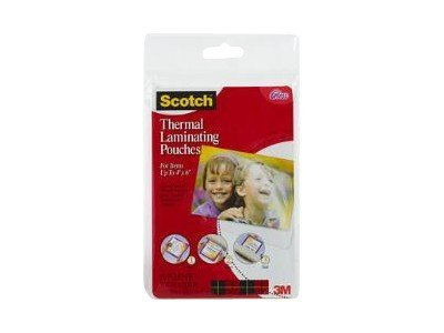 Scotch 20-pack clear 4 in x 6 in lamination pouches