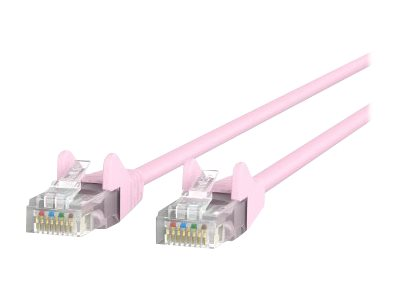Belkin patch cable - 3 m - pink