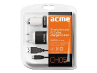 Acme CH05 Smartphone and PC Tablet Charger Kit 4in1 - Netzteil