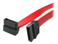 StarTech.com SATA to Right Angle SATA Serial ATA Cable - SATA cable - Serial ATA 150/300/600 - SATA (R) to SATA (R) - 20.3 cm - right-angled connector - red