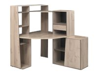 mambo bureau d 39 angle avec surmeuble ch ne mambo. Black Bedroom Furniture Sets. Home Design Ideas