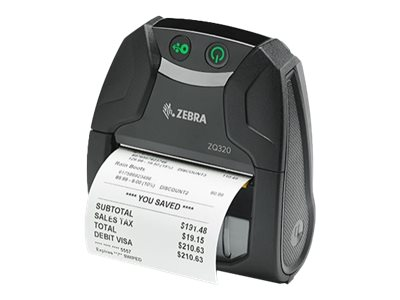Zebra ZQ300 Series ZQ320 Mobile Receipt Printer Receipt printer thermal paper  203 dpi