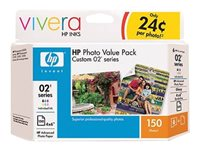 HP Custom 02 Value Pack 6 black, yellow, cyan, magenta, light magenta, light cyan