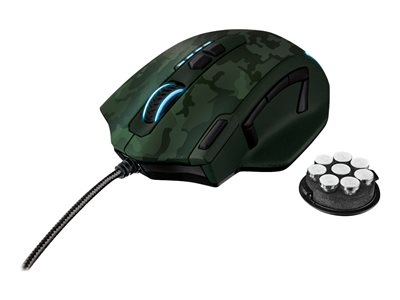 GXT 155 Gaming - mouse - USB - verde mimetico