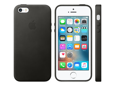 Apple Beskyttelsescover Læder Sort iPhone 5, 5s, SE For iPhone 5, 5s, SE