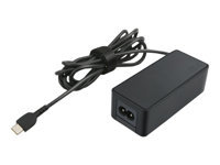Lenovo 45W Standard AC Adapter (USB Type-C) - Power adapter - AC 100-240 V - 45 Watt - for Lenovo 100e (1st/2nd Gen); 14e; 14w; 300e (1st/2nd Gen); 500e (2nd Gen); ThinkBook 13s-IML; 14s-IML; ThinkPad 11e/Yoga (4th/5th Gen); A285; A485; E14; E15; E490/s; E495; E590; E595; L13/Yoga; L390/Yoga; P43s; P53s; T490/s; T495/s; T590; X1 Carbon (6th/7th Gen); X1 Yoga (3rd/4th Gen); X390/Yoga; X395