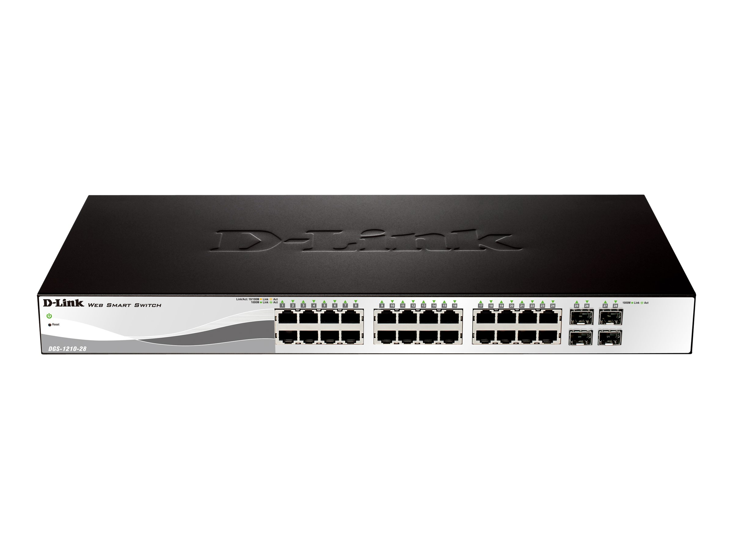 D-Link Web Smart DGS-1210-28 - switch - 24 ports - managed - rack-mountable