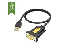 Vision USB to Serial Adaptor - Adaptateur série - USB - RS-232 - noir