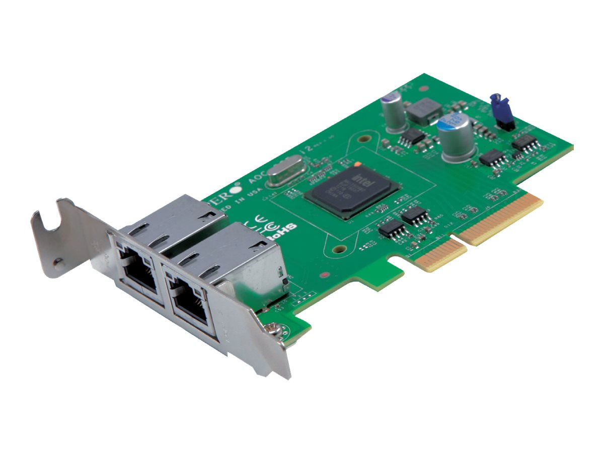 Supermicro Add-on Card AOC-SGP-i2 - Netzwerkadapter - PCIe 2.1 x4 Low Profile - Gigabit Ethernet x 2