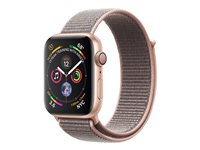 "Apple Watch Series 4 (GPS) - 40 mm - or-aluminium - montre intelligente avec boucle sport - nylon tissé - sable rose - taille de bande 130-190 mm - affichage 1.57"" - 16 Go - Wi-Fi, Bluetooth - 30.1 g"