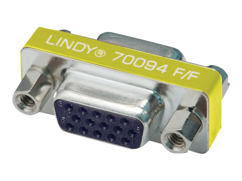 Lindy Mini Gender Changer - Invertieradapter - HD-15 (W) bis HD-15 (W)