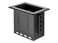 StarTech.com Single-Module Conference Table Connectivity Box-Customizable Mounting plate