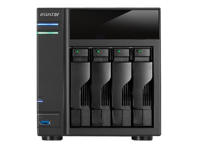 ASUSTOR AS-204TE - NAS-Server - 4 Schächte - SATA 6Gb/s - HDD - RAID 0, 1, 5, 6, 10, JBOD