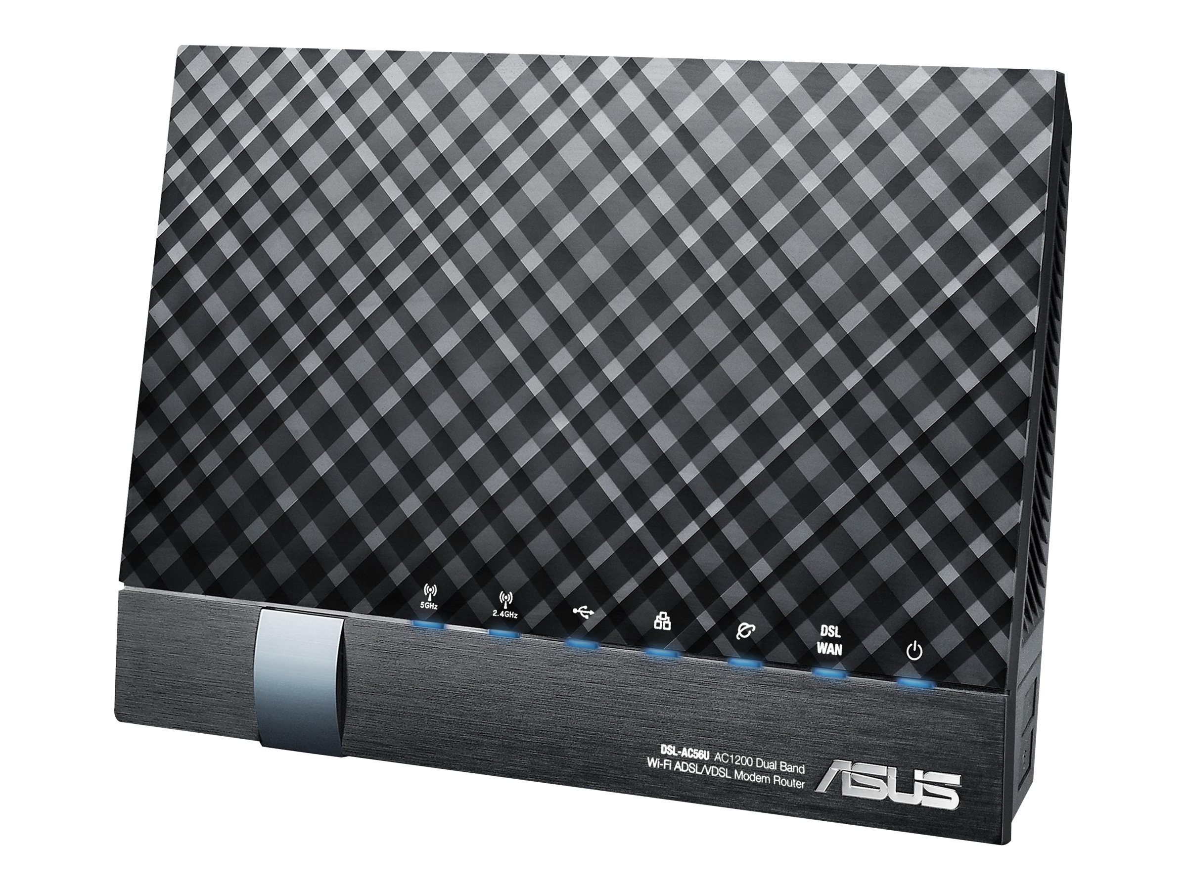 ASUS DSL-AC56U - Wireless Router - DSL-Modem - 4-Port-Switch - GigE - 802.11a/b/g/n/ac