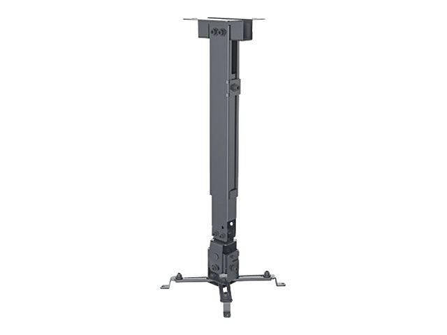 Manhattan Projector Universal Ceiling or Wall Mount (height: 43-65cm), Max 20kg, Black - mounting kit