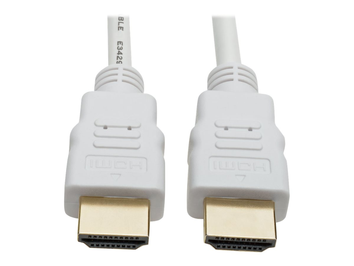 Tripp Lite High-Speed HDMI 4K Cable with Digital Video and Audio, Ultra HD 4K x 2K @ 30 Hz (M/M), White, 16 ft. - HDMI …