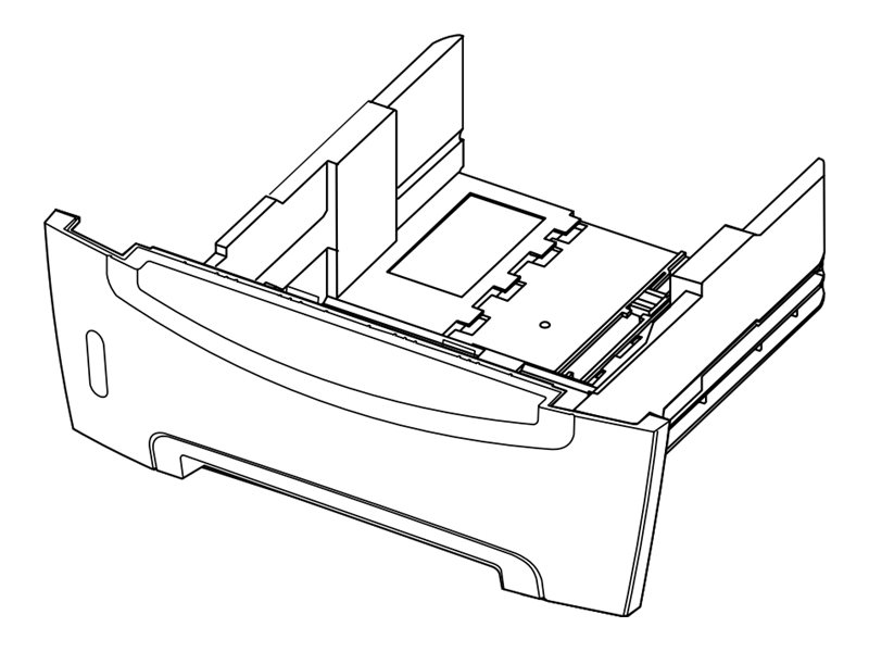 Lexmark - optional tray - 550 sheets