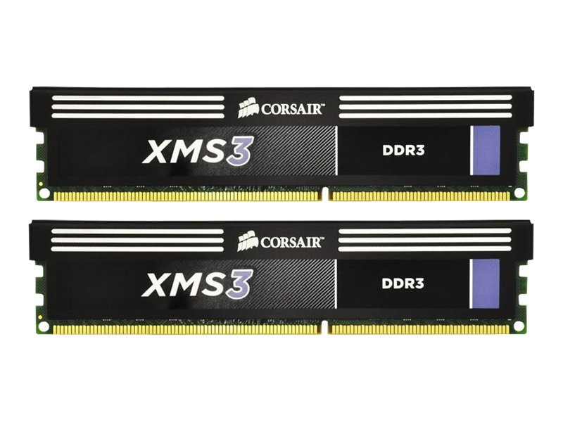Corsair XMS3 - DDR3 - 8 GB: 2 x 4 GB - DIMM 240-PIN - 1600 MHz / PC3-12800 - CL9